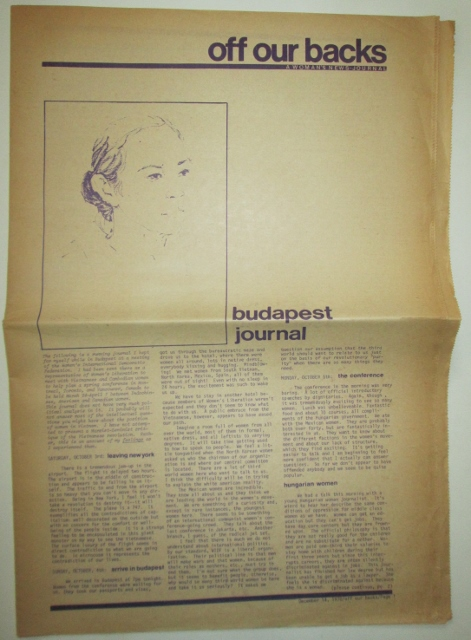 Off Our Backs. A Woman's News-Journal. Volume 1, Number 14. December 14, 1970. Authors.