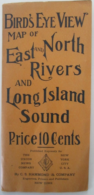 Bird's Eye View Map of East and North Rivers and Long Island Sound. No author given.