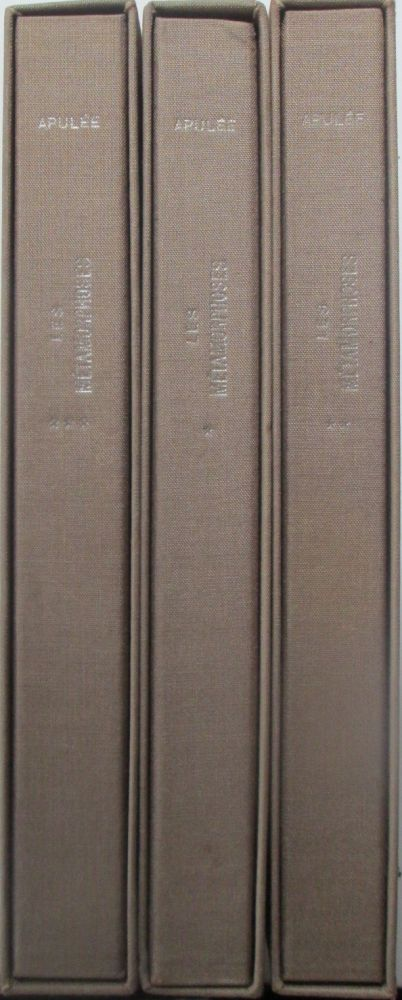 Les Metamorphoses (The Golden Ass). Three Volumes. Apulee, Apuleius.