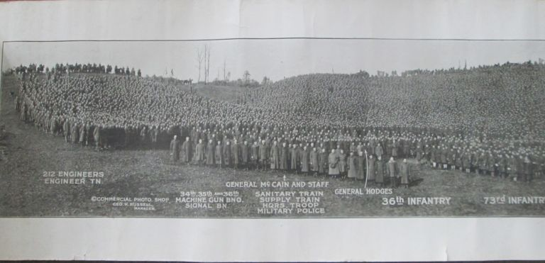 Plymouth (12th) Division Panaromic Photo taken at Camp Devens, Massachusetts, Dec. 3, 1918. No author given.