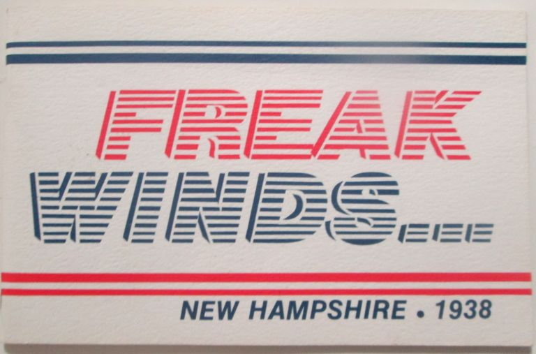 Freak Winds New Hampshire 1938. No author given.