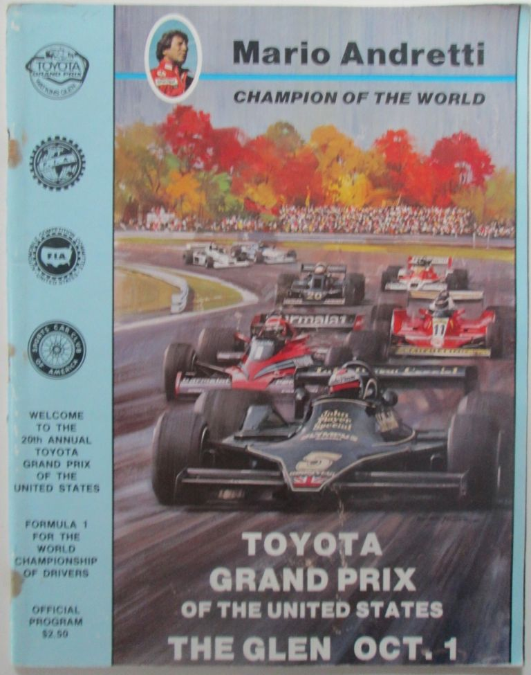 Toyota Grand Prix of the United States. Welcome to the 20th Annual Toyota Grand Prix of the United States Official Program. October 1, 1978. No author given.