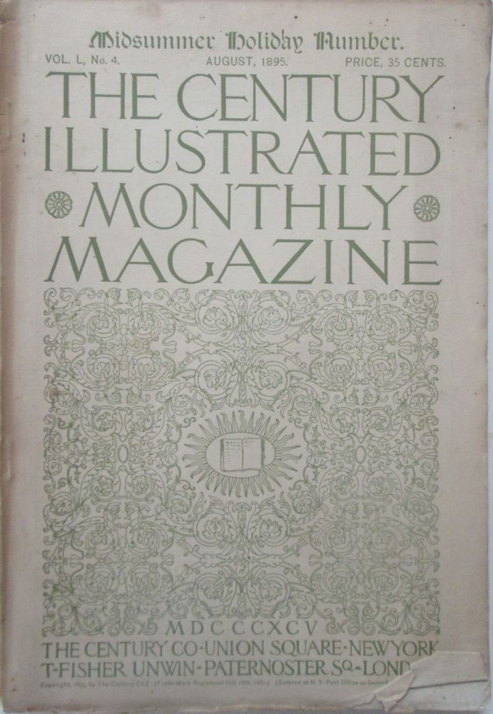 The Century Illustrated Monthly Magazine. August, 1895. James Whitcomb Riley.