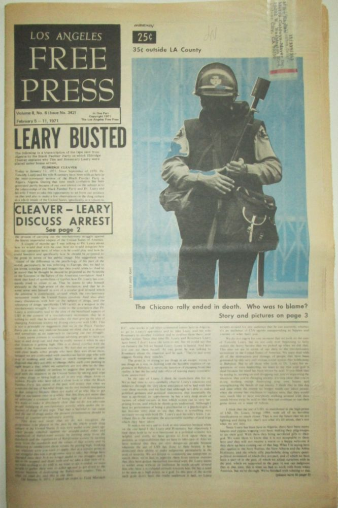 Los Angeles Free Press. February 5-11, 1971. Eldridge Cleaver, Timothy Leary.