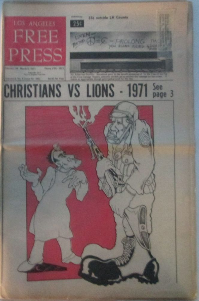 Los Angeles Free Press February 26-March 5, 1971. authors.