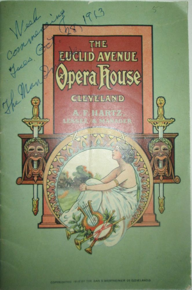 The Man Inside. The Euclid Avenue Opera House Cleveland Theater Program for the week of Tuesday, October 28, 1913. Given.