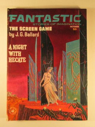 Fantastic. Stories of Imagination October 1963. Volume 12 No. 12. J. G. Ballard.