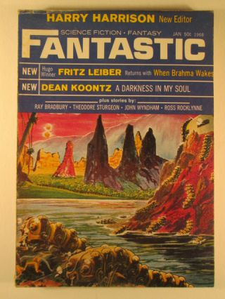 Fantastic Science Fiction Fantasy. January 1968. Vol. 17. No. 3. Ray Bradbury, Dean Koontz, John Wyndham.