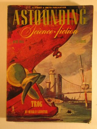 Astounding Science Fiction. June 1944. Vol XXXIII No. 4. Frederic Brown, Murray Leinster.