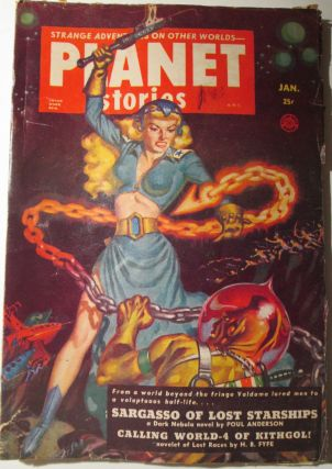 Planet Stories. January, 1952. Vol. 5 No. 4. Poul Anderson, John Jakes, H. B. Fyfe.
