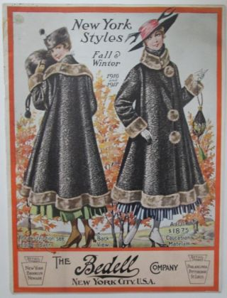 New York Styles. Fall and Winter 1916 and 1917. Catalog by The Bedell Company. Given