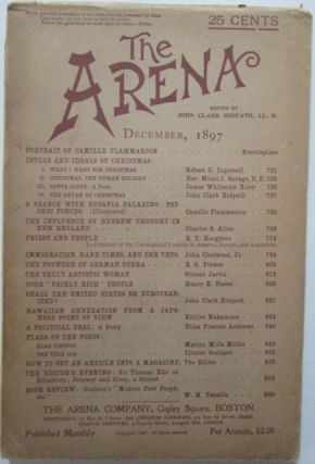 The Arena. December, 1897. Camille Flammarion, E. T. Hargrove, James Whitcomb Riley