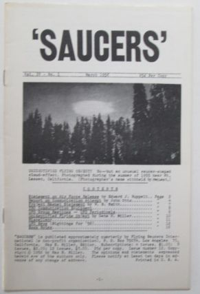 Saucers. Vol. IV No. 1. March 1956. Max B. Miller, Authors