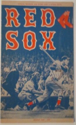 Red Sox. Official Program and Scorecard. 1959. No author given.