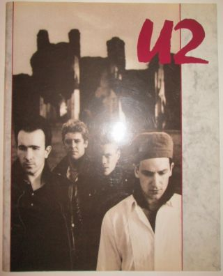 U2. 1985 Tour Book. No author given