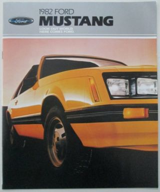 1982 Ford Mustang Promotional Sales Booklet. given