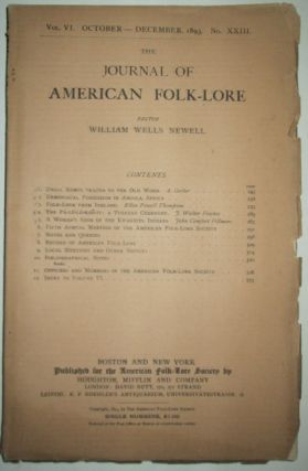 The Journal of American Folk-Lore. October-December 1893. Authors