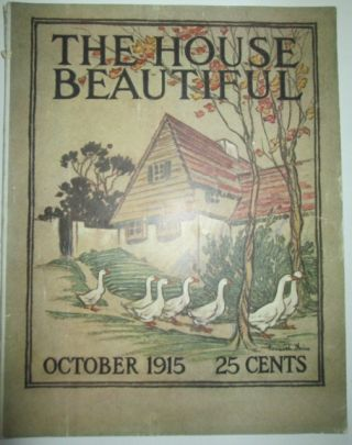 House Beautiful. October 1915. authors.