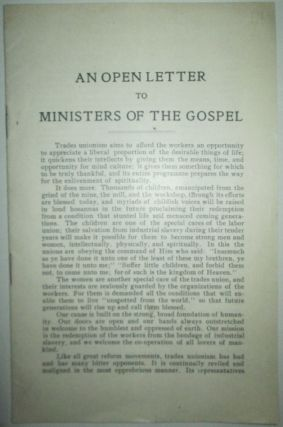 An Open Letter to Ministers of the Gospel. given