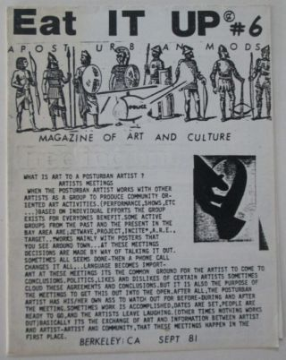 Eat It Up. A Post Urban Mods Magazine of Art and Culture. #6. September, 1981. Helen Holt, Tom Patrick, Jeff Stoll.