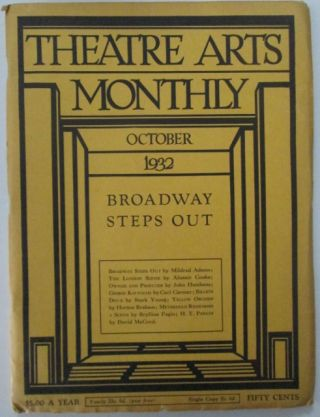 Theatre Arts Monthly. October, 1932. Norman Bel Geddes, Doris Ulmann, artists