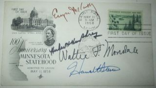 First Day Cover, First Day of Issue Stamp/Envelope with stamp commemorating the 100th Anniversary of Minnesota statehood.