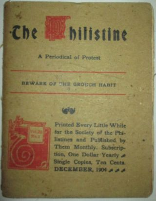 The Philistine. A Periodical of Protest. December, 1904. Authors.