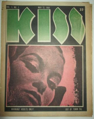 Kiss. May 12, 1969. Vol. 1. No. 3. authors