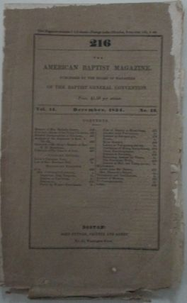 The American Baptist Magazine. December, 1834. authors