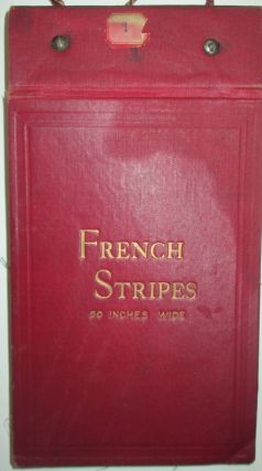 French Stripes. Fabric Swatch Sample Book. No author given.