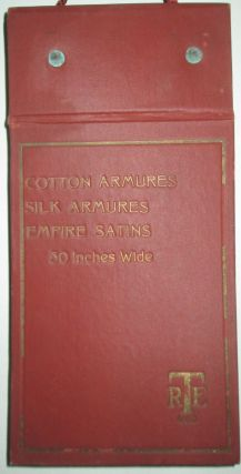 Cotton Armures, Silk Armures, Empire Satins. Fabric Swatch Sample Book. No author given.