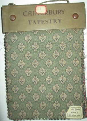 Canterbury Tapestry. Fabric Swatches Sample Book. No author Given.