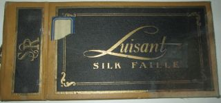 Luisant Silk Faille. Fabric Swatches Sample Booklet. No author Given.