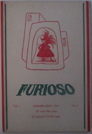 Furioso-A Magazine of Poetry. Vol. 1 No. 4. Summer Issue, 1941. e. e. cummings, Horace Gregory, Wallace Stevens, Marianne Moore.