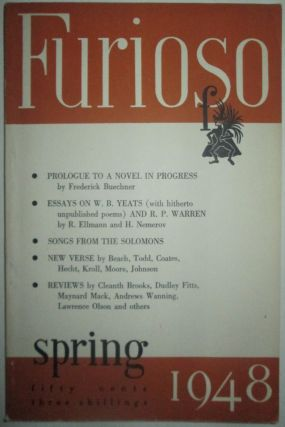 Furioso. Spring 1948. Vol. III Number 3. Frederick Buechner, Anthony Hecht, Howard Nemerov