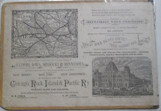 Chicago, Rock Island and Pacific Railway Illustrated Advertisement. No author given.