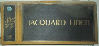 Jacquard Linen. 25 samples. Textile Book. No author.