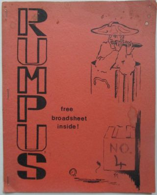 Rumpus No. 4. October 1969. Alison J. Bielski, Colin Cross, M. A. Gettisburg, Michael Horovitz,...
