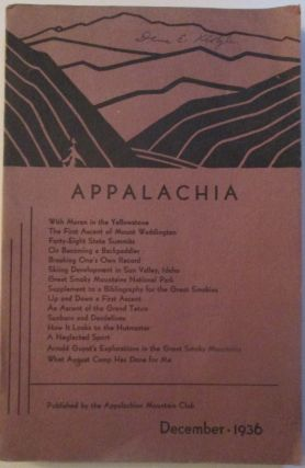 Appalachia. December 1936. Various authors.