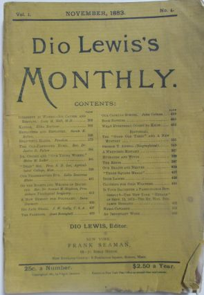 Dio Lewis's Monthly. November, 1883. Vol. 1. No. 4. Authors