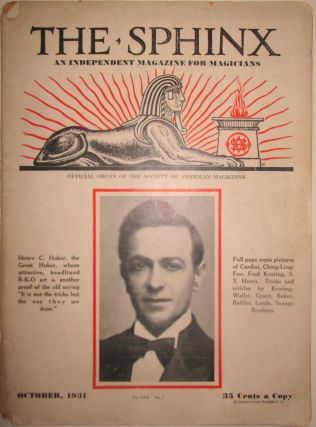 The Sphinx. An Independent Magazine for Magicians. October, 1931. Authors