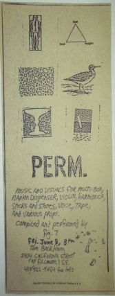 Perm. 1979 Performance Flyer. No author
