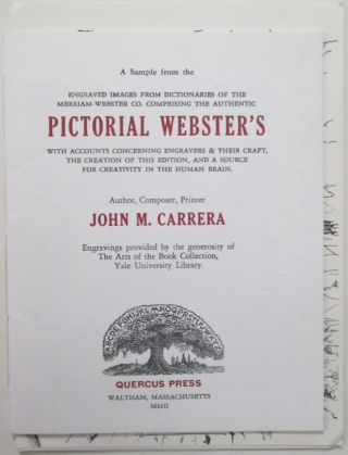 A Sample from the Engraved Images from Dictionaries of the Merriam-Webster Co. Comprising the...
