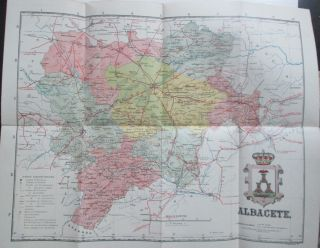Map of the Province of Albacete, Spain. given