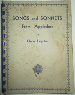 Songs and Sonnets from Appledore (cover title). Oscar Laighton