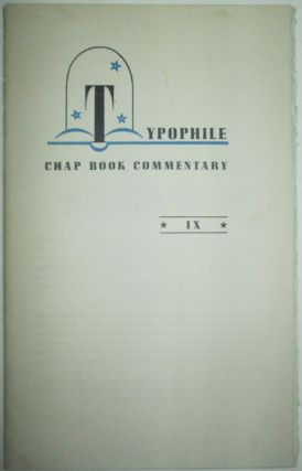 Typophile Chap Book Commentary IX. Paul A. Kent Bennett, Rockwell