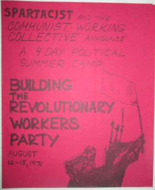 Building the Revolutionary Workers Party. Spartacist and the Communist Working Collective...
