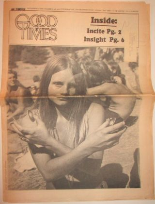 Good Times. September 4, 1969. authors