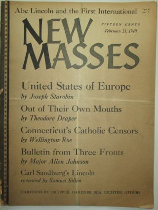 New Masses. February 13, 1940. Theodore Draper