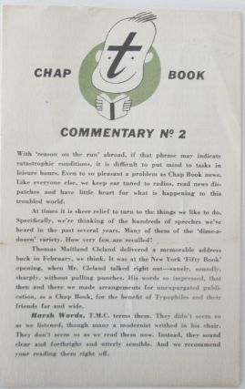 The Typophile's Chap Book. Commentary Number 2. authors